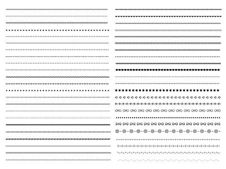 Illustration for Set of pixel dividers design elements - Royalty Free Image