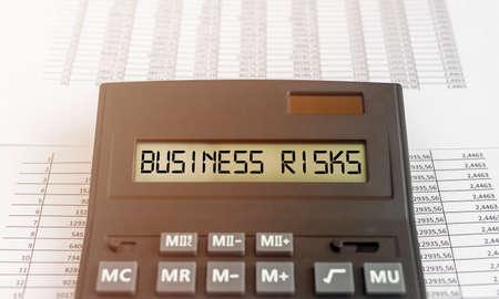 Photo pour Business risks inscription words. Risk management and planning. - image libre de droit