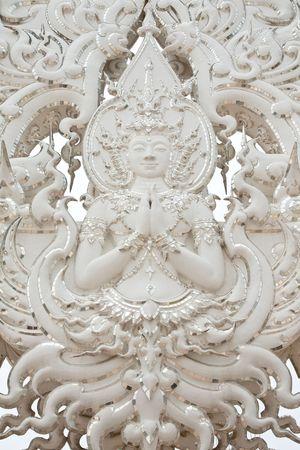 Deva statue in traditional Thai style molding art