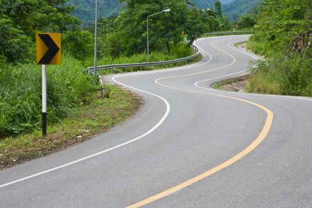 Bends of road, eastern Thailand