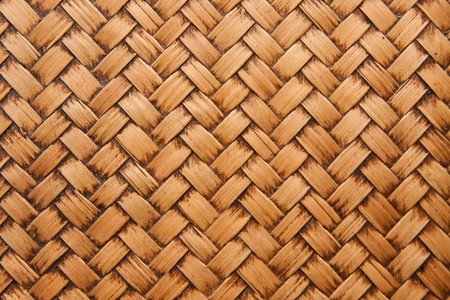native Thai style bamboo weaving house wall