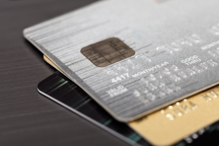 Close up shot of credit card