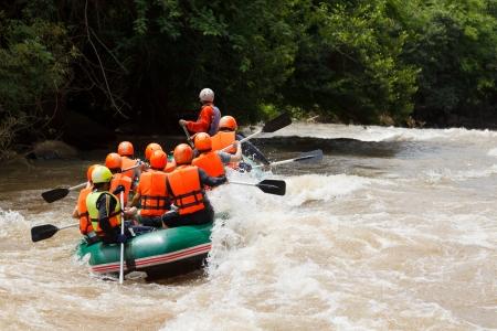Rafting in Khek river, northern Thailand