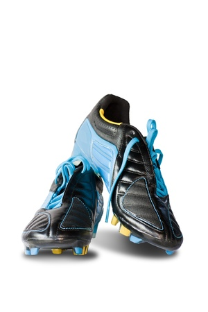 Football shoes on white background