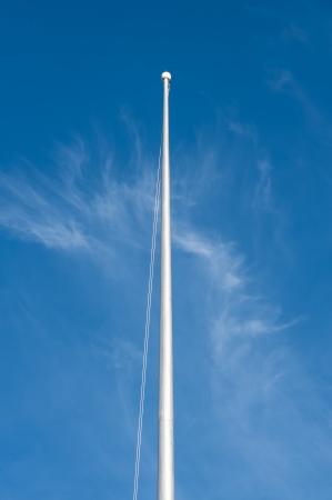 empty blank flagstaff, blank flagpole