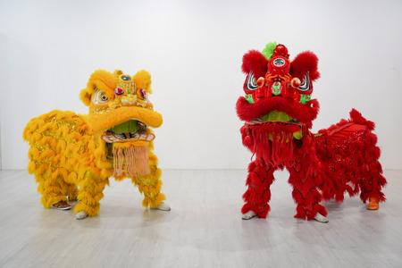 Foto de manipulated China Lion, Asian traditional activity for celebration., Thailand. - Imagen libre de derechos