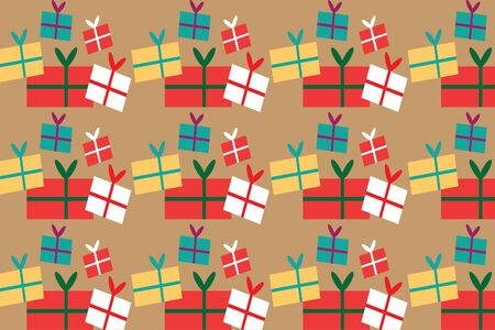 Illustration pour Gift pattern design for background,wallpaper,clothing,wrapping,Batik,fabric,Vector illustration style. - image libre de droit
