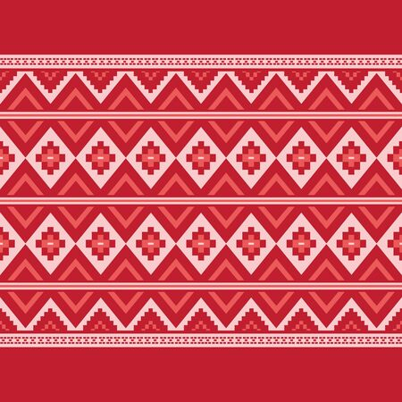 Illustration pour Geometric ethnic pattern traditional Design for background,carpet,wallpaper,clothing,wrapping,Batik,fabric,sarong,Vector illustration embroidery style. - image libre de droit