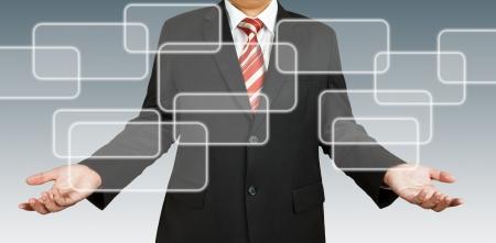 Foto de Businessman with blank rectangular - Imagen libre de derechos