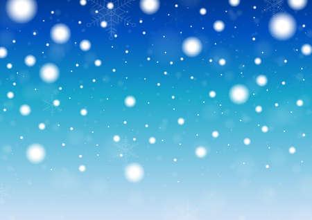 Ilustración de Merry Christmas background, Snowflakes and snowfall.Template Design for postcard and banner. Vector And Illustration. - Imagen libre de derechos