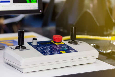 Close up high technology and accuracy joystick for cnc cmm machine control on table