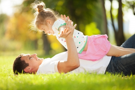 Photo for father and daughter in the park - Royalty Free Image