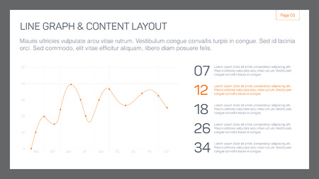 Editable template of presentation slide representing line