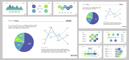 Infographic Design Set Can Be Used For Workflow Layout Diagram Annual Report Presentation Web Design Business And Economics Concept With Process Line Pie Bar And Flow Charts Royalty Free Vector Graphics