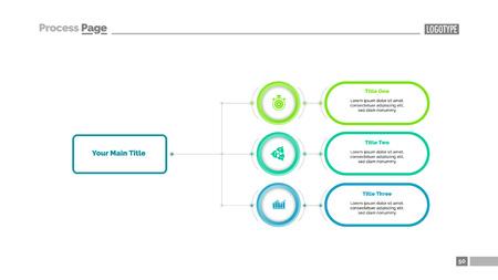 Three Options Flowchart Slide Template : Royalty-free vector