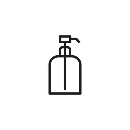 Eau de cologne bottle line icon