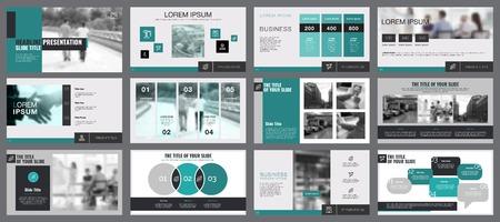 Illustration pour Business Diagrams Slide Templates Set - image libre de droit