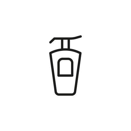 Line icon of perfume bottle.