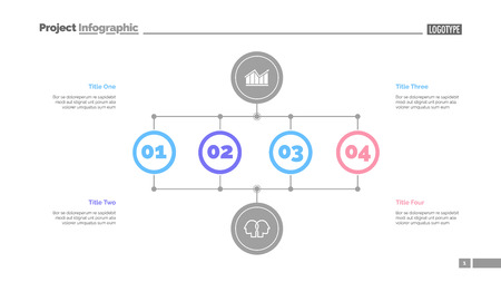 Illustration pour Business stages slide template. Business data. Graph, diagram, design. Creative concept for infographic, report. Can be used for topics like analysis, research, business fields - image libre de droit