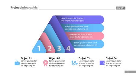 Four elements process chart slide template  Business data