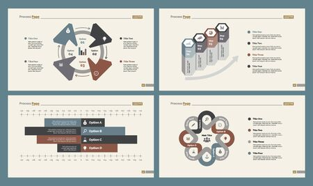 Photo pour Infographic design set can be used for workflow layout, diagram, annual report, presentation, web design. Business and marketing concept with process and bar charts. - image libre de droit