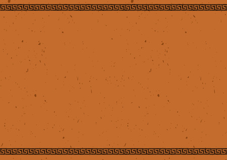 Clay tablet  Vector template with ancient Greek border in