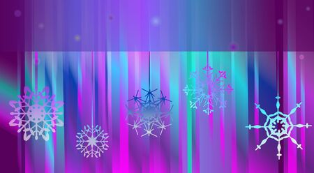 Northern lights. Abstract vector background