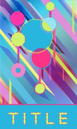 Bright abstract poster. Vector design