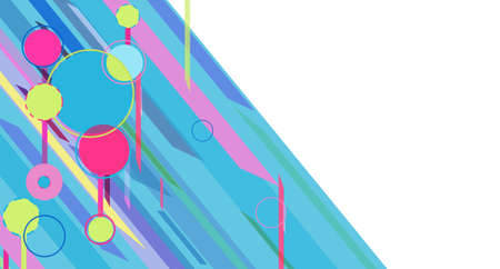 Colorful beautiful horizontal Vector background with modern shapes