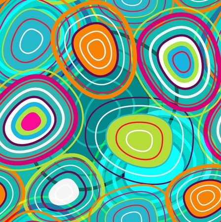 abstract seamless texture with bubbles in turquoise colors