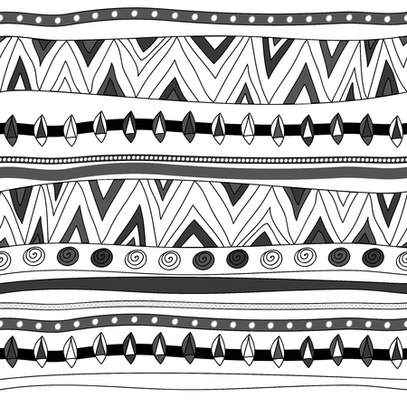 Seamless vector texture with tribal patternのイラスト素材