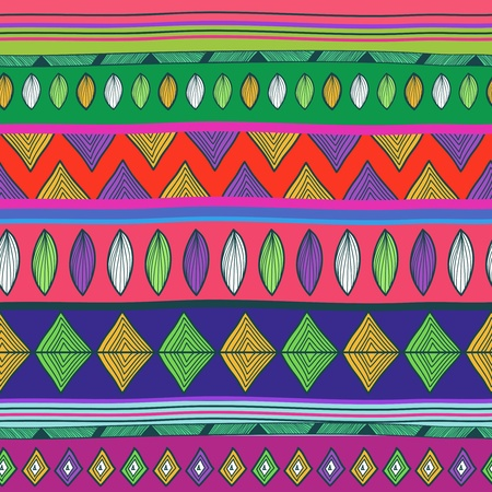 Seamless vector background with tribal pattern