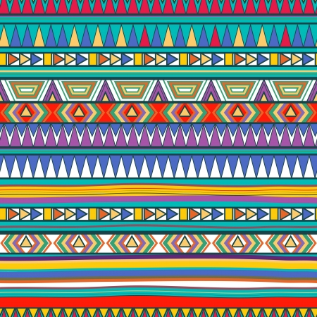 Seamless vector background with drawing tribal patternのイラスト素材