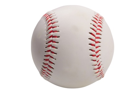 isolated baseball on white backgroundの写真素材