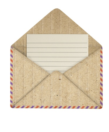 Photo pour Opened envelope recycle paper - image libre de droit
