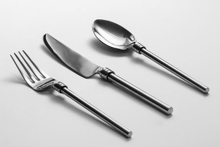 Photo pour Cutlery set with Fork, Knife and Spoon - image libre de droit