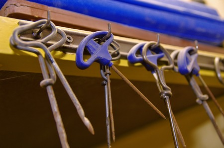 Close up of gimlets in the workshop