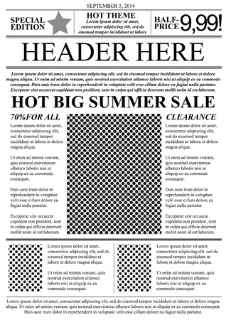 Flyer template newspaper style