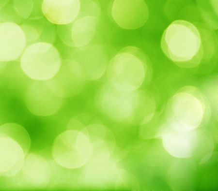 abstract green background with blurred circles