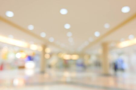 image blur department store shopping mall, business center background