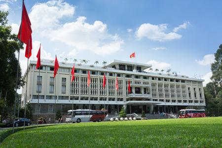 HO CHI MINH CITY, VIETNAM- NOVEMBER 2015: Independence Palace was built in 1962-1966 in Ho Chi Minh City, Vietnam