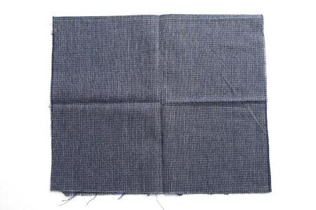 Photo pour blue fabric cloth isolated on white background - image libre de droit