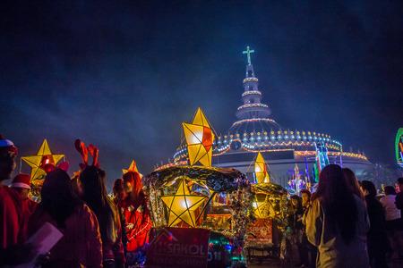 Star Festival the Christmas season At the Cathedral of the Archangel Micah L. Tha Rae Ban Tha Rae. City School (23 -24 Dec 57) and the Sangha Supreme - Tha Rae counties. In Sakon Nakhon, Sakon Nakhon. (25 Dec 57).  Celebrate Christmas Watch convoy parade