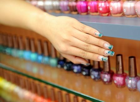 image of nail polish. Varnish set
