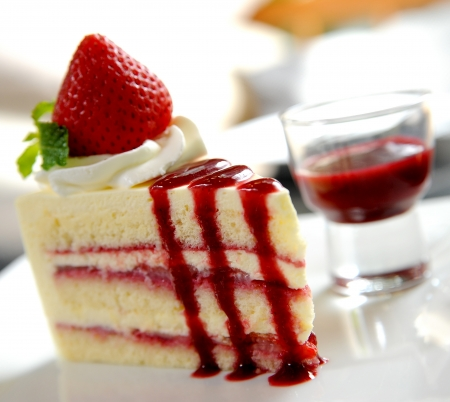 Photo for strawberry cake - Royalty Free Image
