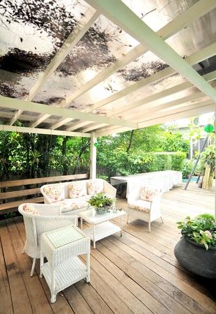 Photo pour outdoor terrace - image libre de droit