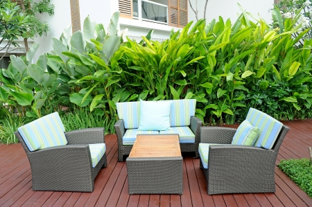 Sofa in garden