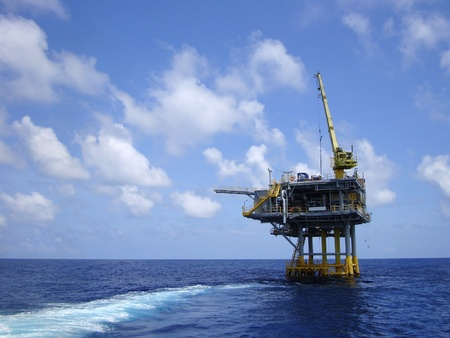 Offshore Production Platform In the Middle of Ocean