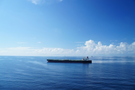 Offshore Tanker on Sunny Day