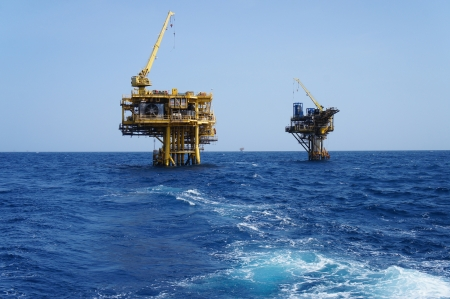 Two Offshore Production Platforms For Oil and Gas Development